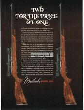 1971 WEATHERBY Mark XXII .22 Rifle Like Getting 2 For Price Of 1 Vtg Print Ad