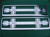 """Brand New 2 x /""""Chrome/"""" Effect Number Plate Holder Surround Car"""