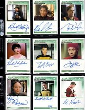 Star Trek TNG Portfolio Prints series 2 11 autographed card lot
