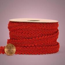 "Red Gimp Braid Trim, 5/8"" X 10yd, New, Free Shipping"