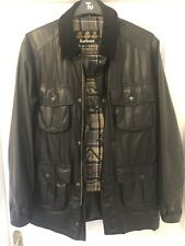 Mens Barbour wax jacket - small - black