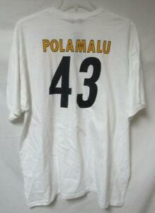 Pittsburgh Steelers Mens Size X-Large Troy Polamalu #43 T-Shirt A1 1593