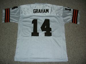 OTTO GRAHAM Unsigned Custom Cleveland White Sewn Football Jersey Sizes S-3XL