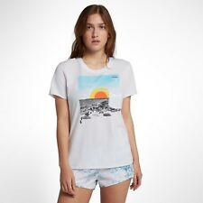 Hurley Now Cutback Womens Small Short Sleeve Crew Nike Style: AA4567-100 100%