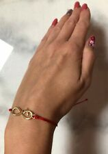 Gold Infinity Red Thread Luck Handmade Bracelet
