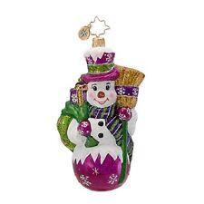 "Radko Make Broom For Me 5 1/2"" Snowman Ornament 1016808 Nwt"