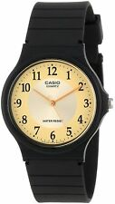 Casio Men's Black Resin Watch, Analog, Water Resistant, MQ24-9B3