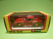 BBURAGO 9150 TOYOTA CELICA - RED 1:24 - GOOD IN BOX