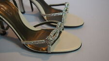 Via Spiga Heels Womens Size 8 Rhinestone Crystal Sparkle Wedding Bride Rare