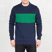 Reebok Classic Archive Stripe Crew Sweatshirt Sizes S-L Navy RRP £55 BNWT AK0739