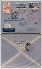 REPUBBLICA - Affrancatura mista - 9° Giro aereo di Sicilia 22.6.1957