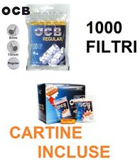 1000 FILTRI PER SIGARETTE OCB REGULAR 8mm CON CARTINA ORANGE FILTRO LISCIO