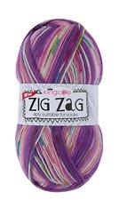 king Cole  zig zag 4ply  sock yarn 1x 100g ball with pattern