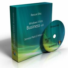 Windows Vista Business 32 Bit Re-Install Restore Repair Recovery SP2 Boot DVD