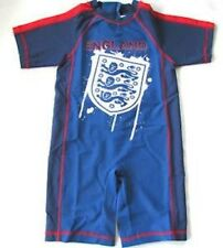 Boys Sun Safe Swim Suit UV Protection England Three Lions Official Merchandise