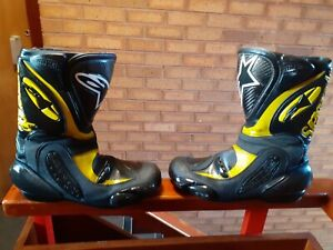 ALPINESTARS GP TECH SERIES AIR FIT TOP SPEC MOTORCYCLE MOTORBIKE BOOTS SIZE 10