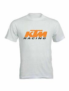 T Shirt Maglietta Logo KTM racing -100% Cotone regualr fit