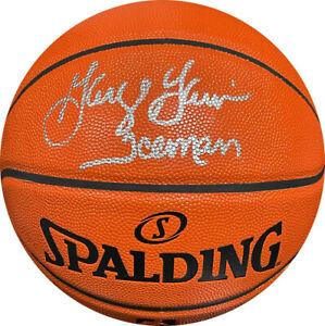 George Gervin signed Spalding NBA I/O Rep Game Ball Series Basketball Iceman-JSA