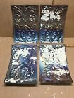 """4pc Lot of 11"""" by 8"""" Antique Ceiling Tin Metal Reclaimed Salvage Art Craft"""