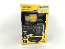 Chevy Bowtie Logo 3-Pc Black Front Sideless Seat Cover Chevrolet Car Truck SUV
