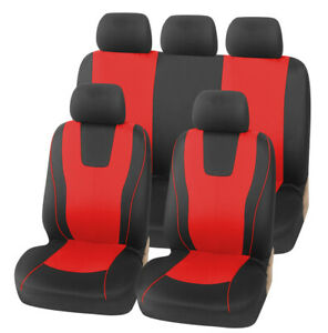 Washable Car Seat Covers - 9 pcs Front & Rear Full Set Car Interior Accessories