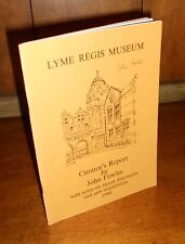 Signed First Edition ~ Lyme Regis Museum: Curator's Report 1984 by John Fowles
