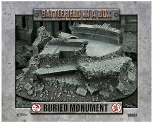 Battlefield in a Box Gothic Warzones - Buried Monument 28-35mm scale (BB554)