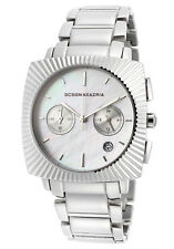 NEW-BCBG ELITE SILVER TONE,S/STEEL,CHRONOGRAPH LADY'S WATCH BG8215