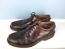 ECCO Mens 42 8.5 - 9 Brown leather Oxford Lace Up Dress Shoes