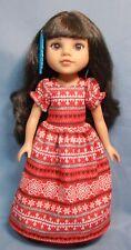 Winter Christmas Dress for Wellie Wishers Effner Little Darlings H4H dolls