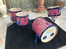 "TRUTH USA Custom ""SPIDER"" 4pc Drum Set kit with 20x20 Bass!! beautiful!!"