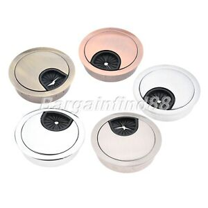 50mm Computer Desk Cable Outlet Port Surface Grommet Table Wire Hole Case Cover