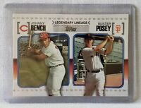 2010 Topps Legendary Lineage #LL74 Johnny Bench / Buster Posey - NM-MT