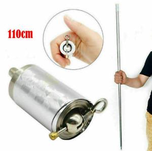 Tasche Staff Tragbar Kampfsport Magic Metallstab Selbstverteidigung Stick 110cm