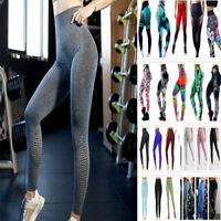 Damen Leggings Leggins Sport Hose Fitness Stretch Gym Yoga Jeggings Laufhose DE