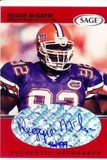 reggie mcgrew rookie rc draft auto autograph florida gators uf college #/999 99
