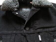 Levi's® Cord Jacke Cordjacke mit dunklem Fell, Gr. S, Schwarz ! warm gefüttert !