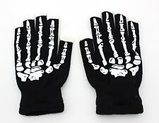 LED Skeleton Black 6 Light Flashing Modes Gloves