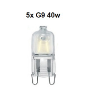 5x Capsula ECO G9 40w Eveready Blanco Calido Regulable Ahorro de Energia 240v