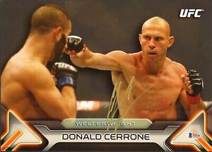 DONALD COWBOY CERRONE SIGNED AUTO'D 10X14 TOPPS WALL ART CARD BAS COA  #2/99 UFC