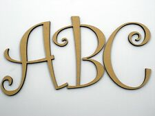 5cm Large Wooden Letter Words Wood Letters Free Shipping Alphabet Name Cur