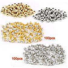 100pcs silver + 100 pcs golden Rivet with rhinestone diamond 7mm L8Q6