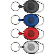 4x Schlüsselanhänger mit Karabiner und ausziehbarem Schlüsselring / 4 Farben