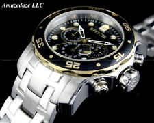 NEW Invicta Men's Pro Diver Scuba Chronograph Stainless Steel Black Dial Watch!!
