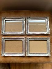 Beautiful Set 4 Silver Gilt Photo Picture Wall Frame Rococo Baroque Style 5 X 7