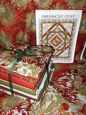 "Red Dreamscapes Queen Size Quilt Kit 86""X103"" Gold Metallic by In the Beginning"