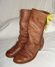 """GEORGINA GOODMAN """"BILLY"""" lace-up in back BOOTS - BROWN ~ SIZE 39 (8.5-9 USA)"""