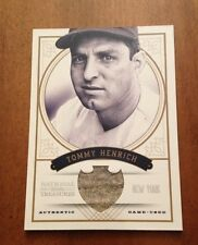 Tommy Henrich 2012 National Treasures Game Used Jersey #90/99 Yankees
