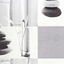 Kitchen and Bathroom Silver Bamboo Pebbles Tile Wallpaper by Rasch 825718