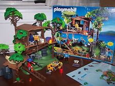 Playmobil 5746 Complete w/ Box Instructions Adventure Jungle Tree house HTF